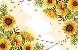 fond de fleurs et de feuilles tropicales vecteur