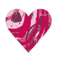 coeur abstrait. silhouette abstraite rouge en forme de coeur. conception pour la Saint Valentin, mariage, médecine. illustration vectorielle vecteur