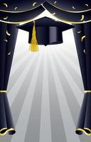 modèle de fond photobooth de graduation vecteur