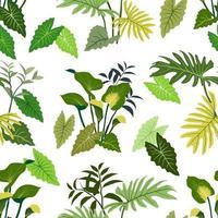 Modèle sans couture de feuilles tropicales dessinées à la main pour vêtements textiles de mode décoratifs vecteur