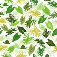 modèle sans couture de feuilles colorées tropicales pour les vêtements textiles en tissu vecteur