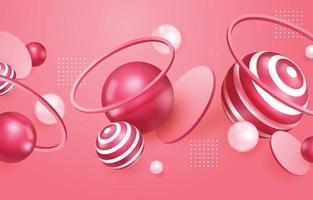 Fond rose abstrait réaliste 3d vecteur