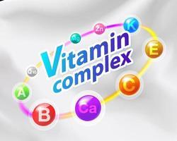 complexe de vitamines sur le lait vecteur