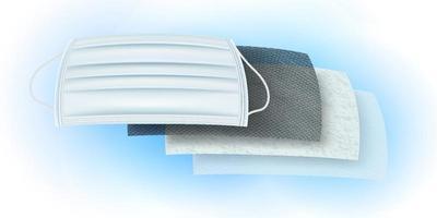 détails du masque de matériau filtrant vecteur