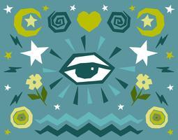 Toutes les icônes de l'oeil vecteur