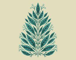 Conception de feuilles botaniques vecteur