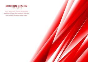 polygonale dégradé rouge abstrait sur fond blanc avec un espace pour le texte vecteur