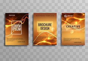 Ensemble de modèles de brochure entreprise brillant brillant abstrait vecteur
