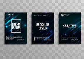 Ensemble de modèles de conception brochure entreprise bleu abstrait vecteur