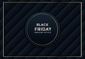 vendredi noir papier texturé abstrait coupé fond vecteur