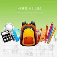 illustration vectorielle d & # 39; éducation affiche réaliste vecteur