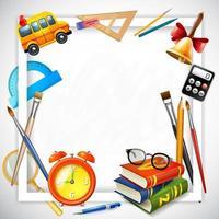 illustration vectorielle de cadre réaliste école vecteur