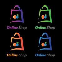 images du logo de la boutique en ligne vecteur