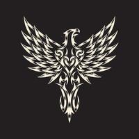 aigle héraldique sur fond noir vecteur