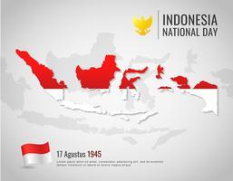 Carte d'Indonésie vecteur