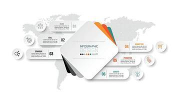 modèle infographique de diagramme commercial ou marketing vecteur