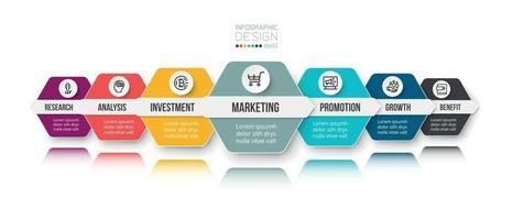 modèle d & # 39; infographie commercial ou marketing vecteur
