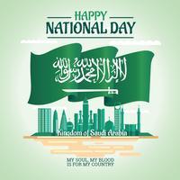 Illustration de la fête nationale de l'Arabie Saoudite 23 septembre vecteur