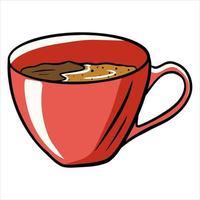 café dans une tasse vecteur