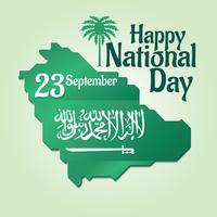 Fête nationale de l'Arabie Saoudite le 23 septembre vecteur
