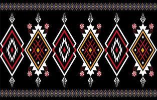 Abstrait motif natif géométrique orange et rouge sans soudure vecteur