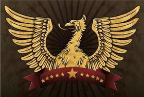 emblème vintage grunge vecteur