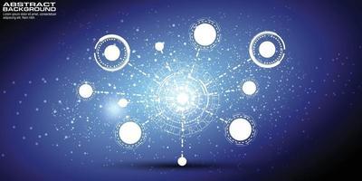 fond numérique avec carte du monde point concept de connexion au réseau mondial du commerce mondial vecteur