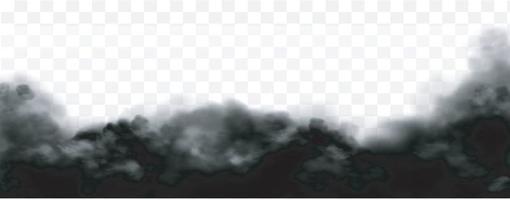 fumée noire sale effet de smog de brouillard toxique vecteur