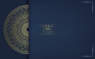 fond de mandala de luxe avec arabesque dorée Vecteur gratuit