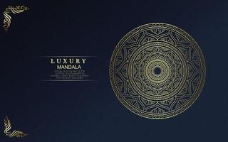 mandala or de luxe fond orné vecteur pro