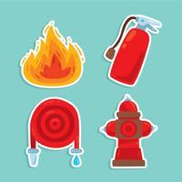 Vecteur d'élément pompier