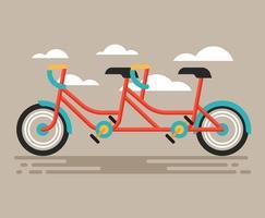 Illustration de vélo en tandem vecteur