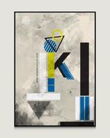 conception de lettre k conception de fond abstrait conception de fond géométrique adaptée aux couvertures de livres, dépliants, etc. vecteur