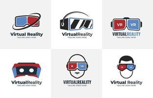 collection de logos de réalité virtuelle vecteur