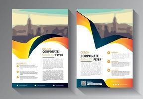 modèle de flyer pour la promotion de la brochure de mise en page ou la société de rapport annuel vecteur