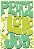 Paix, amour et joie vecteur