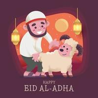joyeux eid al adha célébration des musulmans vecteur