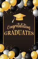 félicitations diplômés fond vecteur