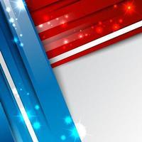 fond abstrait 3d moderne rouge bleu et blanc vecteur