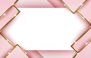 fond géométrique abstrait or rose vecteur