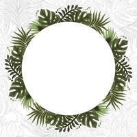fond de cadre floral tropical d'été vecteur