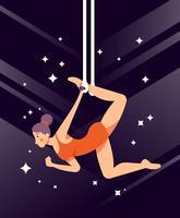 illustration de trapéziste