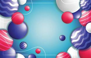 modèle de fond abstrait cercle rouge bleu et blanc vecteur