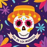 Conception de vecteur de Dia de Los Muertos