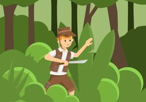 explorateurs de la jungle vector illustration