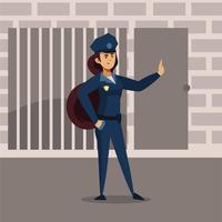 officier de police vecteur