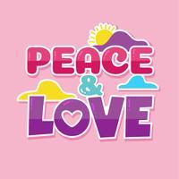 Affiche de paix et d'amour vecteur