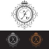 lettre z modèle de logo de luxe s & # 39; épanouit calligraphique élégant ornement lignes entreprise signe identité pour restaurant redevance boutique hôtel bijoux héraldique mode illustration vectorielle vecteur