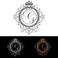 lettre g modèle de logo de luxe s'épanouit calligraphique élégant ornement lignes entreprise signe identité pour restaurant redevance boutique hôtel bijoux héraldique mode illustration vectorielle vecteur