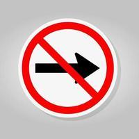 ne pas aller droit par les flèches de la route de la circulation vecteur